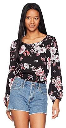 Amy Byer A. Byer Tie Back Chiffon Top (Junior's)