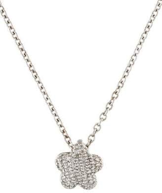 14K Diamond Flower Pendant Necklace white 14K Diamond Flower Pendant Necklace