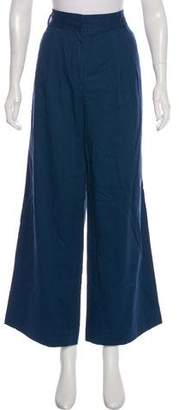 Tibi High-Rise Wide-Leg Pants