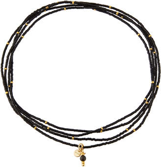 WE Fashion Rafiki Choker Necklace, Black Jasper