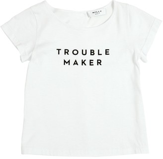 Milly Minis Troublemaker Cotton Blend Jersey T-Shirt