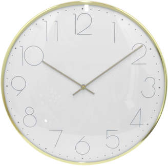 Three Hands Corp Gold-Tone Wall Clock