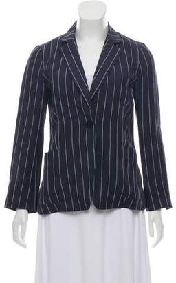 Lafayette 148 Striped Linen Blazer