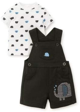 Little Me Baby Boy's Two Piece Elephant Tee and Shortall Set