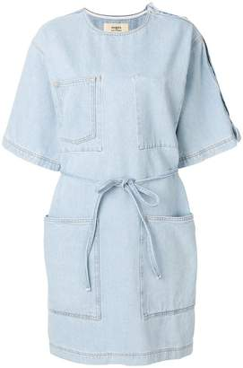 Ports 1961 belted denim T-shirt dress