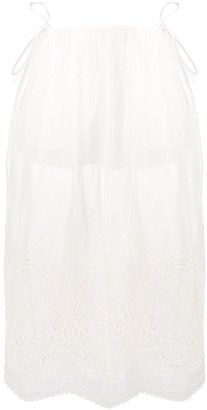Stella McCartney broderie anglaise sheer skirt