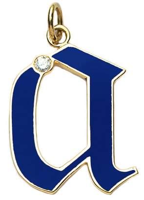 Foundrae Blue Champlevé Enamel Initial Charm