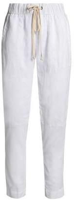 Enza Costa Linen Straight-Leg Pants
