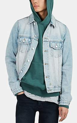Ksubi Men's Classic Distressed Denim Trucker Jacket - Lt. Blue