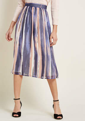 Co Shaoxing Lidong Trading Style Saga Chiffon Midi Skirt