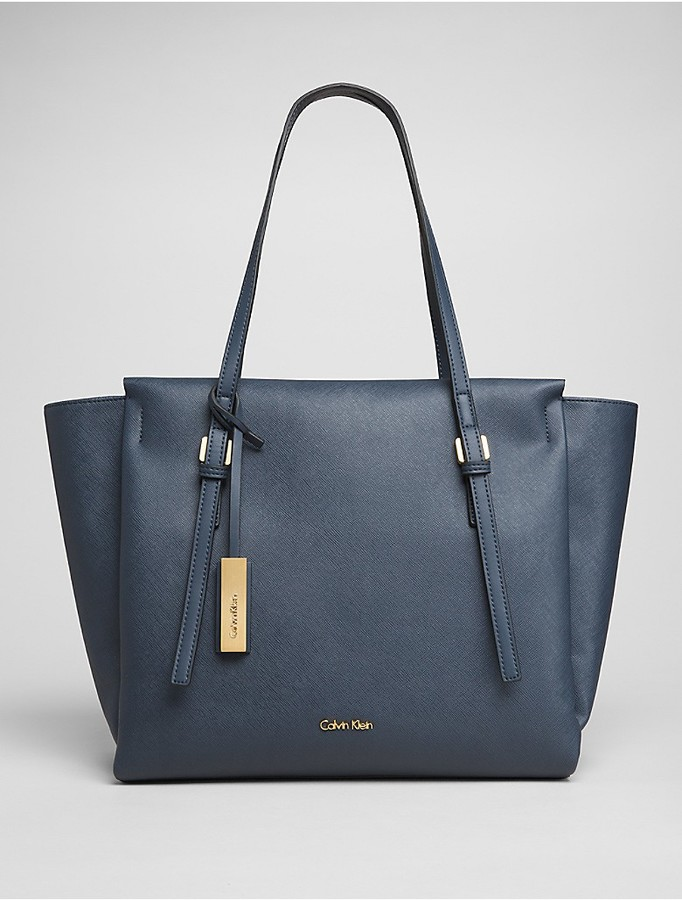 Calvin Klein Faux Leather Large Tote