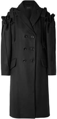 Simone Rocha Ruffled Wool-blend Coat - Black