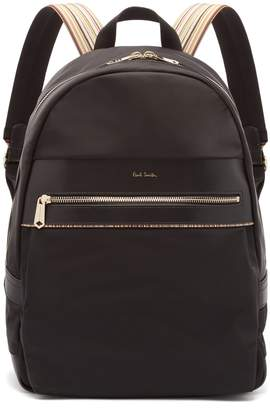 Paul Smith Artist Webbing leather-trimmed nylon backpack