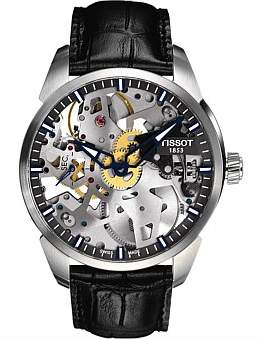 Tissot Squelette/Gr/M/Steel/L.Black/Anthracite