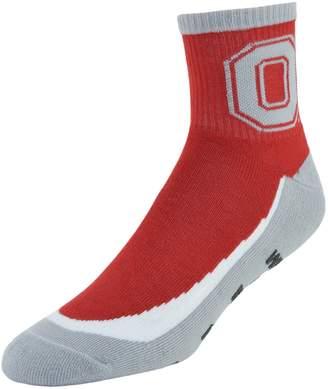 NCAA Men's Mojo Ohio State Buckeyes Gripper Quarter-Crew Socks