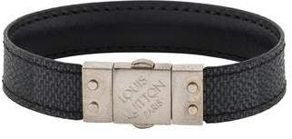 Louis Vuitton Leather Check It Bracelet