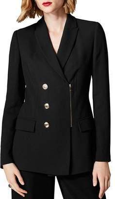 Karen Millen Zip-Front Blazer