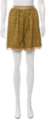 By Malene Birger Sequin Embellished High-Rise Shorts