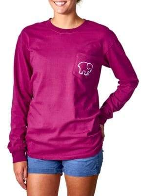Ivory Ella Hamsa Pigment-Dyed Long-Sleeve T-Shirt