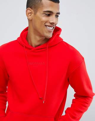 Jack and Jones Originals Drop Shoulder Hoodie With Brand Embroidery
