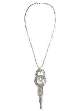Long Interlock Snake Chain Necklace