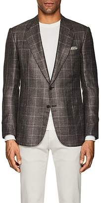 Cifonelli CIFONELLI MEN'S MONTECARLO PLAID SILK-BLEND TWO-BUTTON SPORTCOAT - BEIGE/TAN SIZE 42 L