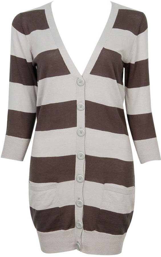 Courtney 3Q Striped Cardigan