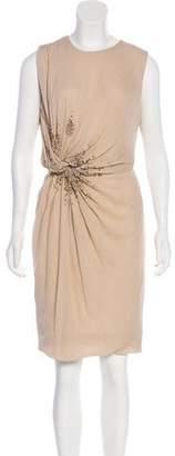 J. Mendel Embellished Silk Dress
