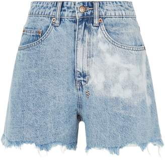 Ksubi Rise N Hi Raw Hem Denim Shorts