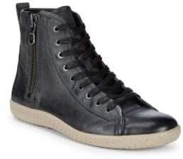 John Varvatos Star High-Top Leather Sneakers