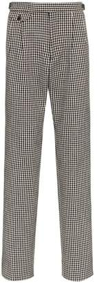 Gucci houndstooth check trousers