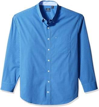 Izod Men's Big Essential Gingham Long Sleeve Shirt