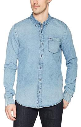 Tommy Hilfiger Men's Denim Shirt with Long Sleeves
