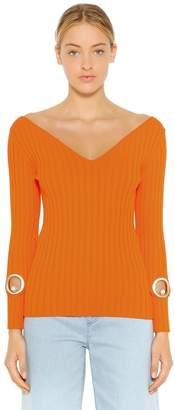 Coliac ストレッチリブニットセーター