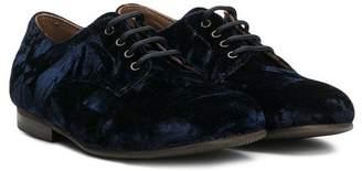 Pépé lace-up velvet shoes