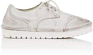 Marsèll WOMEN'S DISTRESSED LEATHER WINGTIP OXFORDS - WHITE SIZE 7
