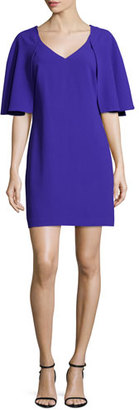 Trina Turk Cape-Sleeve Sheath Dress, Electric Purple $268 thestylecure.com