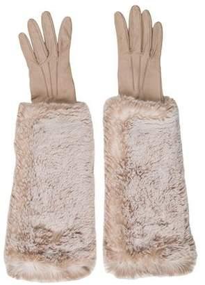 Prada Leather Elbow-Length Gloves