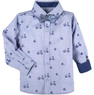 G-Cutee Toddler Boys' Bicycle Print Shirt with Bowtie