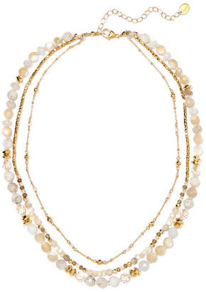 Chan Luu Layered Gold-tone Stone Necklace