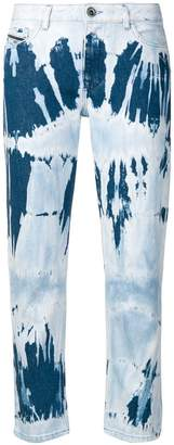 Diesel Black Gold straight jeans in tie-dye denim