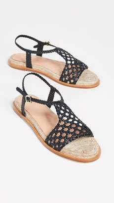 Paloma Barceló Sandrine Woven Flat Sandals