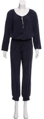 Calypso Long Sleeve Silk Jumpsuit w/ Tags
