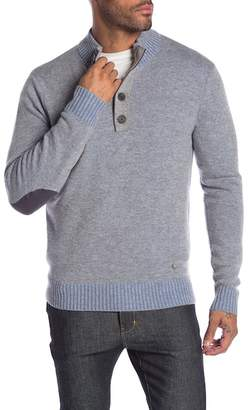 Raffi Vanise Button Mock Neck Sweater