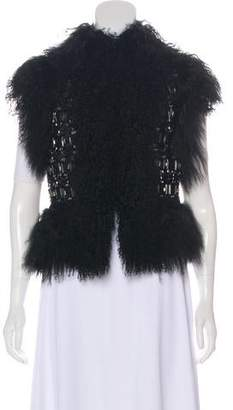 Gucci Beaded Mongolian Lamb Vest w/ Tags