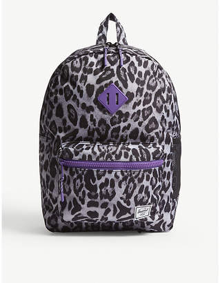 Herschel Heritage Youth XL snow leopard print backpack