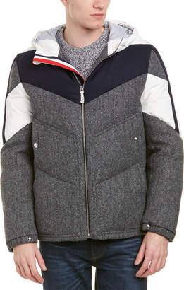 Moncler Gamme Bleu Chevron Quilted Wool Down Jacket