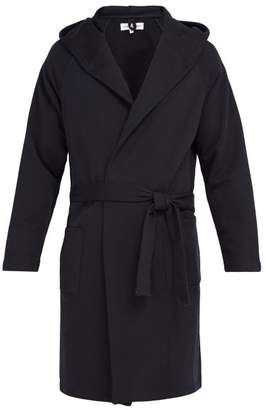 Hamilton And Hare - Hooded Cotton Robe - Mens - Navy
