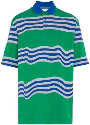 Martine Rose Napa By Oversized striped polo shirt