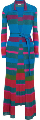 Etro - Striped Ribbed-knit Cardigan - Blue $1,630 thestylecure.com